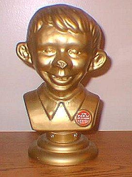 Bust Golden Alfred E. Neuman Plastic • Germany | MADtrash.com