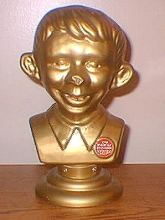 Go to Bust Golden Alfred E. Neuman Plastic