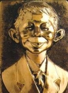Copper Relief Plaque Alfred E. Neuman