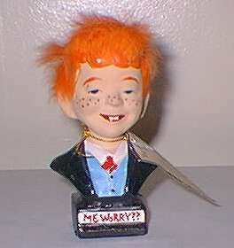 Bust Alfred E. Neuman with orange hair • Japan