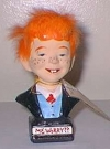 Bust Alfred E. Neuman with orange hair