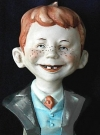 Image of Bust Porcelain Alfred E. Neuman Hand Painted