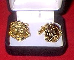 Cuff Links Gold Alfred E. Neuman • USA