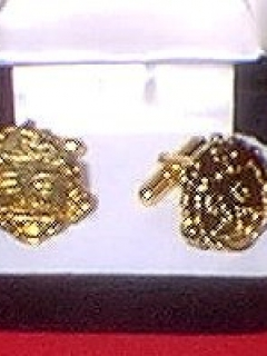 Go to Cuff Links Gold Alfred E. Neuman