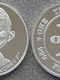 Go to Coin Silver Alfred E. Neuman 'One Troy Ounce'