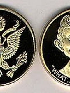 Go to Coin Bronze Alfred E. Neuman