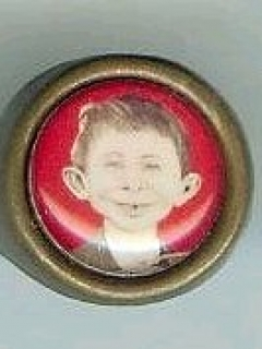 Go to Ring with Pre-MAD Alfred E. Neuman Face #2 • USA