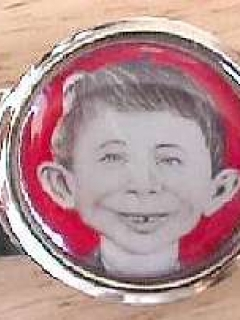 Go to Money Clip with Pre-MAD Alfred E. Neuman Face