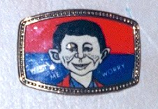 Belt Buckle Glass Alfred E. Neuman • USA