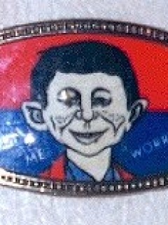 Go to Belt Buckle Glass Alfred E. Neuman • USA