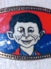 Thumbnail of Belt Buckle Glass Alfred E. Neuman