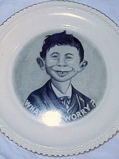 Go to Plate with Pre-MAD Alfred E. Neuman 'What Me Worry' • USA