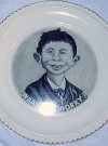 Image of Plate with Pre-MAD Alfred E. Neuman 'What Me Worry'
