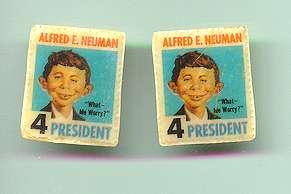 Ear Rings 'Alfred E. Neuman for President' • USA