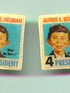Go to Ear Rings 'Alfred E. Neuman for President'