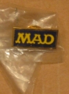 Image of Pin MAD Magazine Staff Logo - Gold/Blue Version