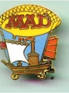Image of Pin MAD Magazine Zeppelin