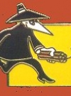 Image of Pin Black Spy Carrying Dynamite