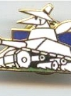 Image of Pin White Spy Driving Tank (Low Silhoutte)