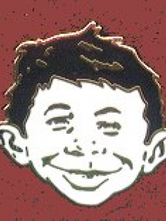 Go to Pin Alfred E. Neuman Head black & white • USA
