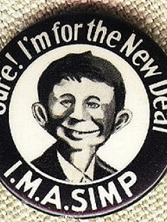 Go to Pinback Button Pre-MAD Alfred E. Neuman I.M.A. SIMP • USA