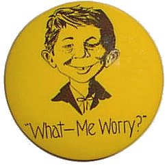 Pinback Button Alfred E. Neuman 'What Me Worry' • USA