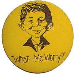 Pinback Button Alfred E. Neuman 'What Me Worry' • USA