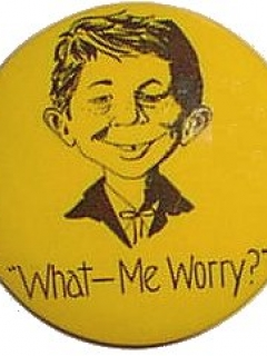 Go to Pinback Button Alfred E. Neuman 'What Me Worry' • USA