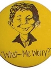Image of Pinback Button Alfred E. Neuman 'What Me Worry'