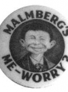 Image of Button Pre-MAD Malmberg's Me Worry