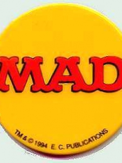 Button MAD Logo on Yellow Background • Australia