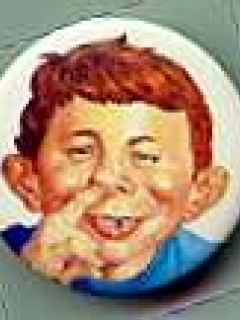 Go to Button 'Alfred E. Neuman Picks Nose' • Great Britain