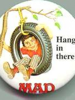 Go to Button Exchange Pinback #1 'Hang in there' • USA