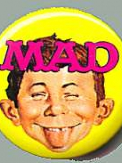 "Go to Button Exchange Pinback #6 ""MAD"" • USA"
