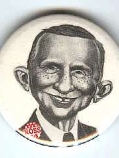Go to Button Ross Perot 'Me Worry' • USA