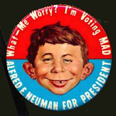Button 'Alfred E. Neuman for President' 1960 • USA