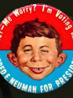 Go to Button 'Alfred E. Neuman for President' 1960