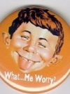 Thumbnail of Button 'What Me Worry', orange