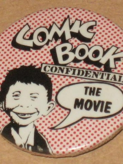 Go to Pinback Button Comic Book Confidential Movie Promotional
