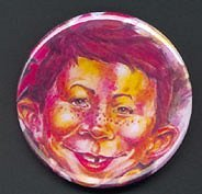 Button Alfred E. Neuman Swirl Art • USA