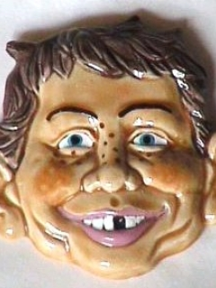 Go to Ceramic Magnet Alfred E. Neuman Head • USA