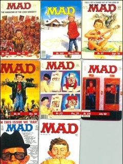 Go to Magnets -Set of 8 MAD Magazine Cover Knock-Offs • USA