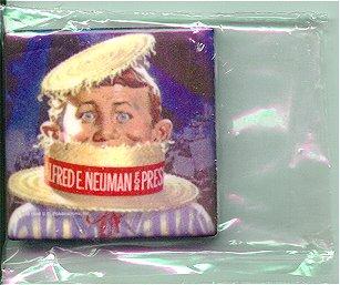 """Ceramic Magnet """"Alfred for President"""" • USA"""