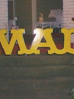 Go to Sign 3D Giant MAD Logo • USA
