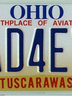 Go to License Plate Ohio State 'MAD FOREVER' (owned by Dick Hanchette)