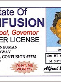 Go to Drivers License Alfred E. Neuman 'State of Confusion' • USA