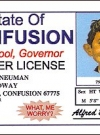 Image of Drivers License Alfred E. Neuman 'State of Confusion'