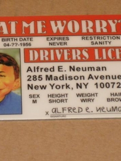 Go to Drivers License Alfred E. Neuman 'Novelty'