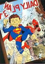 Christmas Card DC/MAD (Alfred as Superman) • USA