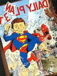 Go to Christmas Card DC/MAD (Alfred as Superman)